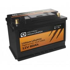 LIONTRON LiFePO4 12,8V 80Ah hoge stroom met BMS