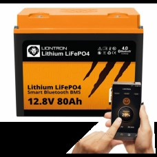 LIONTRON LiFePO4 12.8V 80Ah LX Smart BMS met Bluetooth